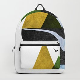 Scandinavian Mountains Abstract Geometric Landscape Backpack