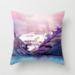 Coloful Lake Louise Throw Pillow