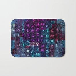 zodiac pattern Bath Mat