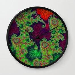 Psychadelic Centerpiece - Fractal Art Wall Clock
