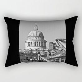 Millenium Bridge & St Pauls Catherderal. London. Rectangular Pillow