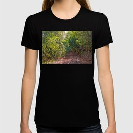 The curve in the rail T-shirt