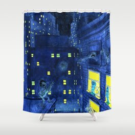 music of the night Shower Curtain