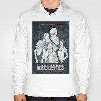 battlestar galactica Hoodies featuring Workspace Galactica by Arne AKA Ratscape