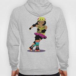 Roller Derby Girl (black skin) Hoody