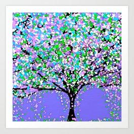 Trees Purple Art Print