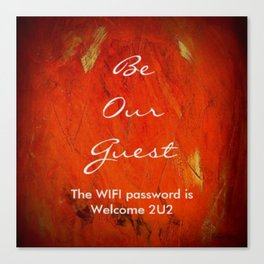 Guest Room WIFI Password Canvas Print