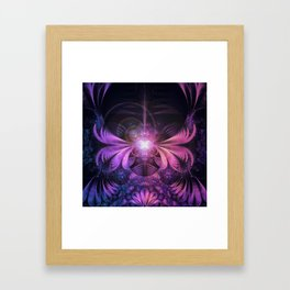 A Glowmoth of Resplendent Violet Feathered Wings Framed Art Print