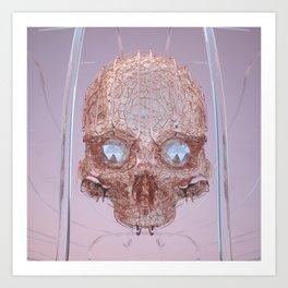 golden skull Art Print
