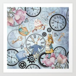 Wonderland Time Kunstdrucke