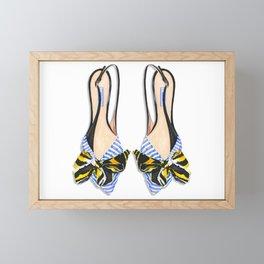 Pretty feet are happy feet! Framed Mini Art Print