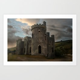 Clifden Castle at the sunset Art Print