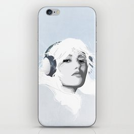 Headphone Girl v2 iPhone Skin