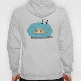 Kawaii Cute Panda And Sloth Hoody