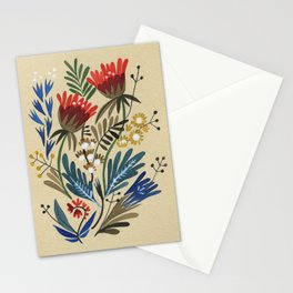 folkflower I Stationery Cards