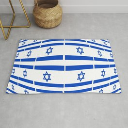 flag of israel 12- יִשְׂרָאֵל ,israeli,Herzl,Jerusalem,Hebrew,Judaism,jew,David,Salomon. Rug