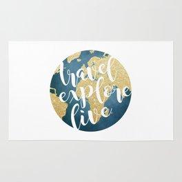 Travel, Explore, Live Rug