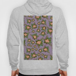 Watercolor Flowers on Purple Background Hoody