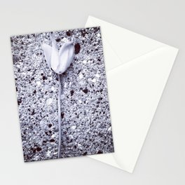 Lost flower in the city Stationery Cards