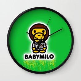 baby milo green Wall Clock