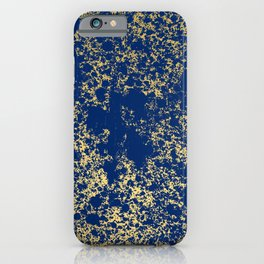 Navy Blue and Gold Patina Design iPhone Case