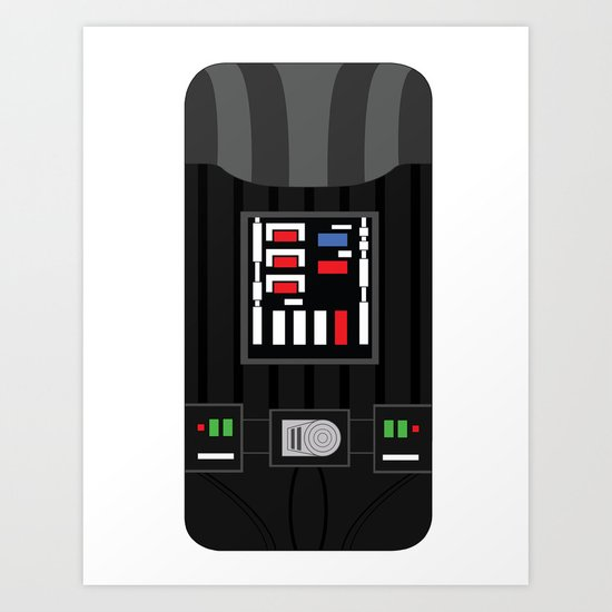 Darth Vader iPhone Case Art Print