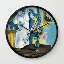 The Plaster Torso - Henri Matisse - Exhibition Poster Wall Clock