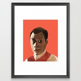Portrait of James Baldwin Framed Art Print