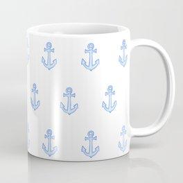 Watercolour Anchor Repeat Pattern Coffee Mug