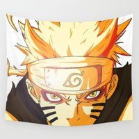 naruto Wall Tapestries featuring Naruto: Sage Beast Mode by RuePrez