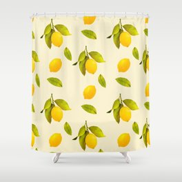 Lemon Pattern Shower Curtain