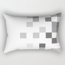 Gray Scale In Pixels Rectangular Pillow