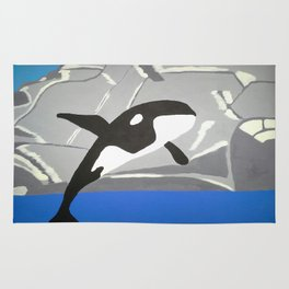 Leaping Orca Rug