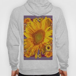 Awesome Patterned Golden Sunflower Art Hoody