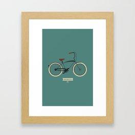 Beach bike style Framed Art Print