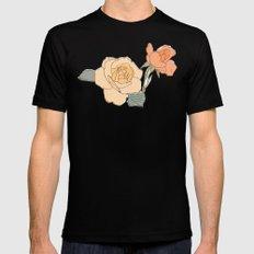 Handdrawn Roses MEDIUM Mens Fitted Tee Black