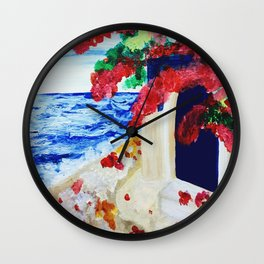 The Blue Door - Acrylic Painting Wall Clock