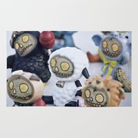 peanuts Area & Throw Rugs featuring Zombies and Peanuts by Misspeden