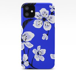 Blue Sakura Cherry Tree Flower Blooms - Aloha Hawaiian Floral Pattern iPhone Case