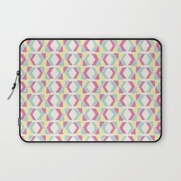 Magenta, Yellow, and Turquoise geometric hourglass pattern Laptop Sleeve