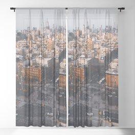 Empire Cityscape Sheer Curtain