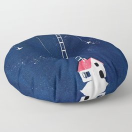 Ladder to the Moon Floor Pillow