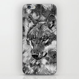 AnimalArtBW_Wolf_20170605_by_JAMColorsSpecial iPhone Skin