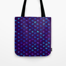 Blue strokes on dark Tote Bag