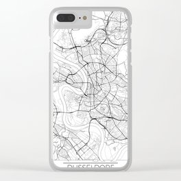 Dusseldorf Map White Clear iPhone Case