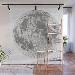 Grey Full Moon Print, by Christy Nyboer Wall Mural