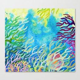 Underwater seaweed Canvas Print