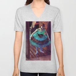 """Edgar Degas """"Dancer Leaving Her Dressing Room"""" Unisex V-Neck"""
