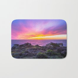 California Dreaming - Brilliant Sunset in Big Sur Bath Mat