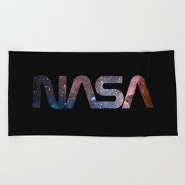NASA font Beach Towel